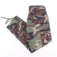 Vintage Green Camo Print Combat Men's Cargo Pants W34 L32