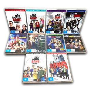 The Big Bang Theory Series DVD Set Seasons 1 2 3 4 5 6 7 8 9 10 - Region 4 VGC
