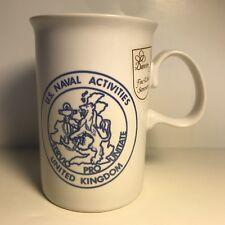 "DUNOON MUG ""U.S. Naval Activities United Kingdom"" Thurso Fine White Stoneware"
