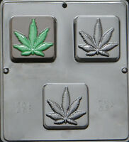 "Hemp Soap Marijuana Pot Leaf 2 3/4 dia"" Mold for Soap or Chocolate Mold 031 NEW"