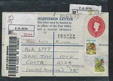 FIJI ISLANDS (P2706B) 2002 QEII 60C RLE UPRATED TO COSTA RICA.  WOW!!!