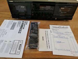 AIWA ADX999 Twin Cassette Deck, In mint condition please read description.