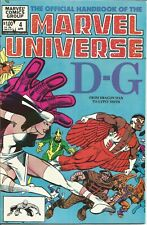 Official Handbook Of The Marvel Universe D-G Comic Volume 1 #4 1983 (FN) C024