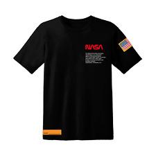 NASA National Aeronautics and Space Administration logo Black Mens T-Shirt