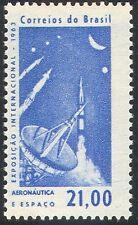 Brazil 1963 Radio Dish Aerial/Space/Rocket/Moon/Transport/Telecomms 1v (n24592)