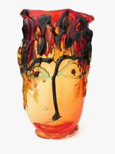 SIGNED Huge 30cm Art Glass Abstract Face Footed Vase Sergio Constantini