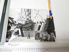 Foto XL Afrikakorps verladung panzer sdkfz schiff tarn   8,10,16