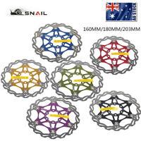 SNAIL Floating Rotor 160mm/180mm/203mm MTB Bike Disc Brake 6 Bolts Rotor Caliper