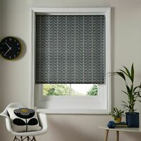 "ORLA KIELY LINEAR LEAF STEM GREY WHITE 71"" X 64"" - 180CM X 162CM ROLLER BLIND"