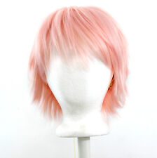 11'' Short Messy Spiky Strawberry Blond Synthetic Cosplay Wig NEW