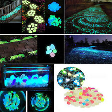10PCS Colorful Glow In The Dark Stones Walkway Rock For Aquarium Fish Tank Decor