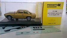 PROGETTO K  1:43 AUTO DIE CAST ALFA ROMEO GIULIA GTA ORO METALLIZZATO PK 046