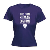 Funny Novelty Tops T-Shirt Womens tee TShirt - Cat This Is My Human Costume