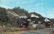 Mining Industry Coal Railroad Transfer Station c1950's Chrome Postcard