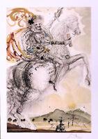 Salvador DALI Don Quixote Litho Print Facsimile Signed Numbered COA