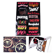 Decal Sticker Decor Wall Laptop Vinyl Heavy Metal Metallic Band Logo Rock Music