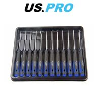 US PRO 12pc Precision Pick / Hook Set & Torx Screwdrivers 5033