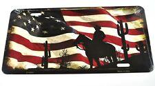 USA Auto Nummernschild License Plate Deko Blechschild Cowboy Flagge Fahne Kaktus