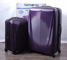 """Samsonite Sphere DLX 2-pc Purple Hardside Suitcase Spinner Luggage Set 28"""" 20"""""""
