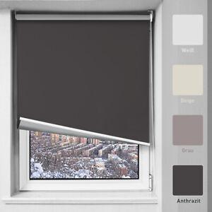 Thermorollo Verdunklungsrollo mit Bohren zum Wandmontage Rollos Fensterrollo Tür