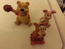 Disney Winnie the Pooh, Tigger, and Piglet PVC Cake Topper Figures