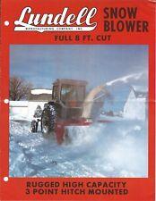 Equipment Brochure - Lundell - 8' Snowblower for Tractor - c1970's (E4805)