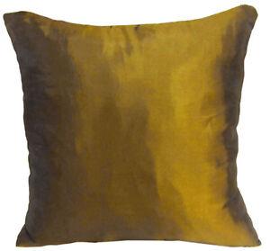 Ja144a 2 Pcs x Gold Poly Taffeta Plain Cushion Cover/Pillow Case*Custom Size