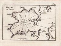 Carte Géographique XVIIIe Golfe Pagasétique Pagasitikos Volos Βόλος Grèce 1764