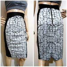 CUE size 6 bold marble print stretch SKIRT exposed back zip near new condition