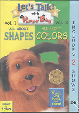 Let's Talkl! with Puppy Dog: All About Shapes/Colors, Vol. 1 & 2 (DVD) 0-4 Yrs