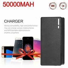 50000mAh External Power Bank Backup LED Dual USB Battery Charger for Cell Phone