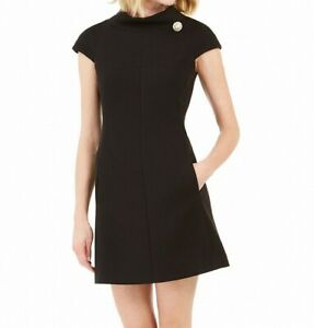 Harper Rose Womens Dress Ink Black Size 4 Sheath High-Neck Stretch $148 110