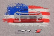 Camaro ZL1 Chevrolet US Flag Gray T Shirt Men's Sz M Medium 2018 Nascar Racing