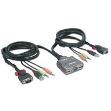 Lindy KVM Switch Compact USB Audio, 2 Port