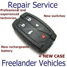 Freelander 2 Key Fob Remote Repair Service Rechargeable Battery + Case 5 Button