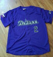 Troy Tulowitzki #2 Tulsa Drillers Promo Jersey Shirt Size Mens 2XL Minors Purple