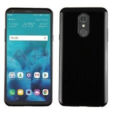 For LG Stylo 4 - Glossy Black Slim Thin Soft Rubber Silicone TPU Skin Case Cover