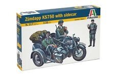 Italeri Model kit #0317 1/35 WWII German Zundapp KS750 with Sidecar w/3 Figures