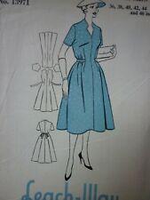UNCUT VINTAGE 1950'S LEACH-WAY DAY DRESS SEWING DRESSMAKING PATTERN