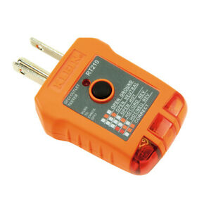 Klein RT210 GFCI and Standard Receptacle Tester, 110/125V AC at 50/60Hz