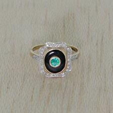 Ringe mit Edelsteinen im Art déco echten-Stil aus Gelbgold