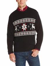 Dockers Reindeer Motif Sweater Men XXL 2XL black ugly christmas nwt $65 CS2