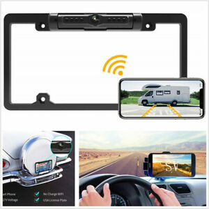 170° Wifi Wireless Rear License Plate Reverse Parking HD Camera For Android IOS