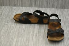 **Birkenstock Rio Sandals - Men's 6, Women's 9/EU 39 N - Black