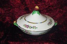 Vintage Royal Cauldon Lidded Tureen Floral Serving Dish made England Hand Painte