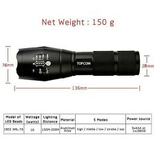 Torch - Military Grade LED tactical flashlight XML - T6 2000 Lumens (G700 style)