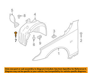 BMW OEM 11-16 X3-Fender Liner Splash Shield Bolt 07147129161