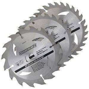 Silverline 3pk TCT Circular Saw Blades 16, 24, 30T  135 x 12.7 ,10mm Bore