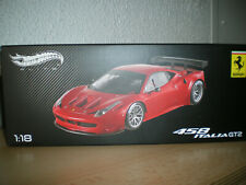 ferrari 458 italia  gt2 1/18 elite mattel x5491 red