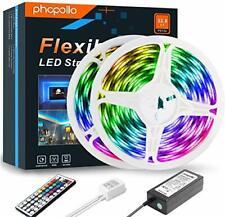 PHOPOLLO Led Strip Lights 10m(2x5m) Ip65 Waterproof 600 LED 5050 RGB SMD Colour